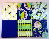 Camelot fabrics - Peacock garden fat eight bundel _