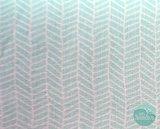 Moda – Sugarpie aqua herringbone_