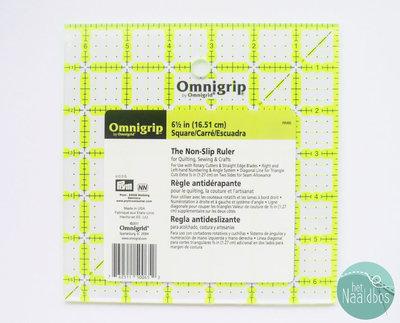 Omnigrid non-slip liniaal 6,5x6,5 inch