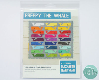 Elizabeth Hartman - Preppy the Whale quiltpatroon