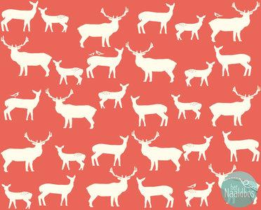 Birch Fabrics - elk farm coral
