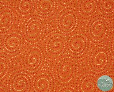 Makower - Walkabout spirals orange