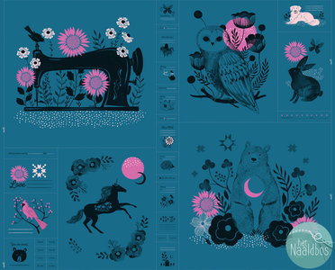 Ruby Star Society - crescent paneel teal