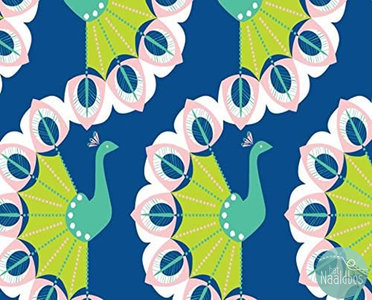 Camelot fabrics - Peacock garden peacocks