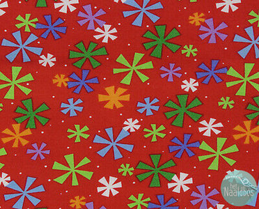 Studio-e - Merrytown red snowflakes