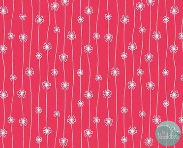 Makower - meadow daisy chain pink