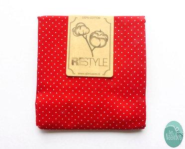 Restyle Fabrics - Kleine stip Rood
