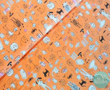 Cotton + Steel - Party orange