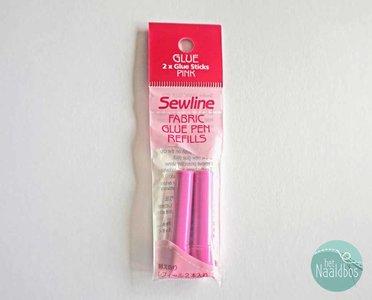 Sewline lijmstift navulling roze
